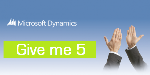 "GIVE ME 5 Microsoft Dynamics NAV. ""Again"""